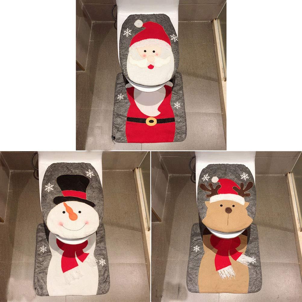 Un tappeto natalizio per il bagno