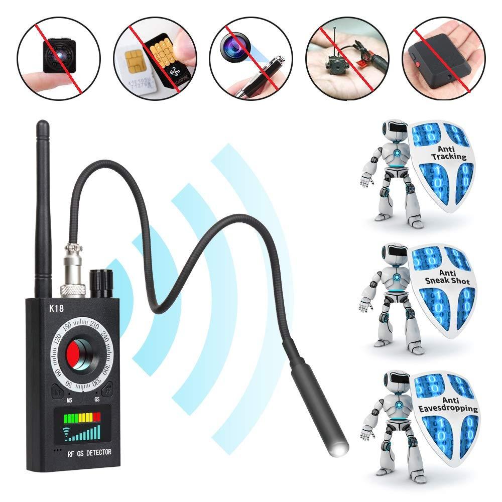 Innoo Tech Anti Spy Detector & Camera Finder RF Signal Detector GPS Bug Detector Hidden Camera Detector for GSM Tracking Device GPS Radar Radio Frequency Detector by Innoo Tech