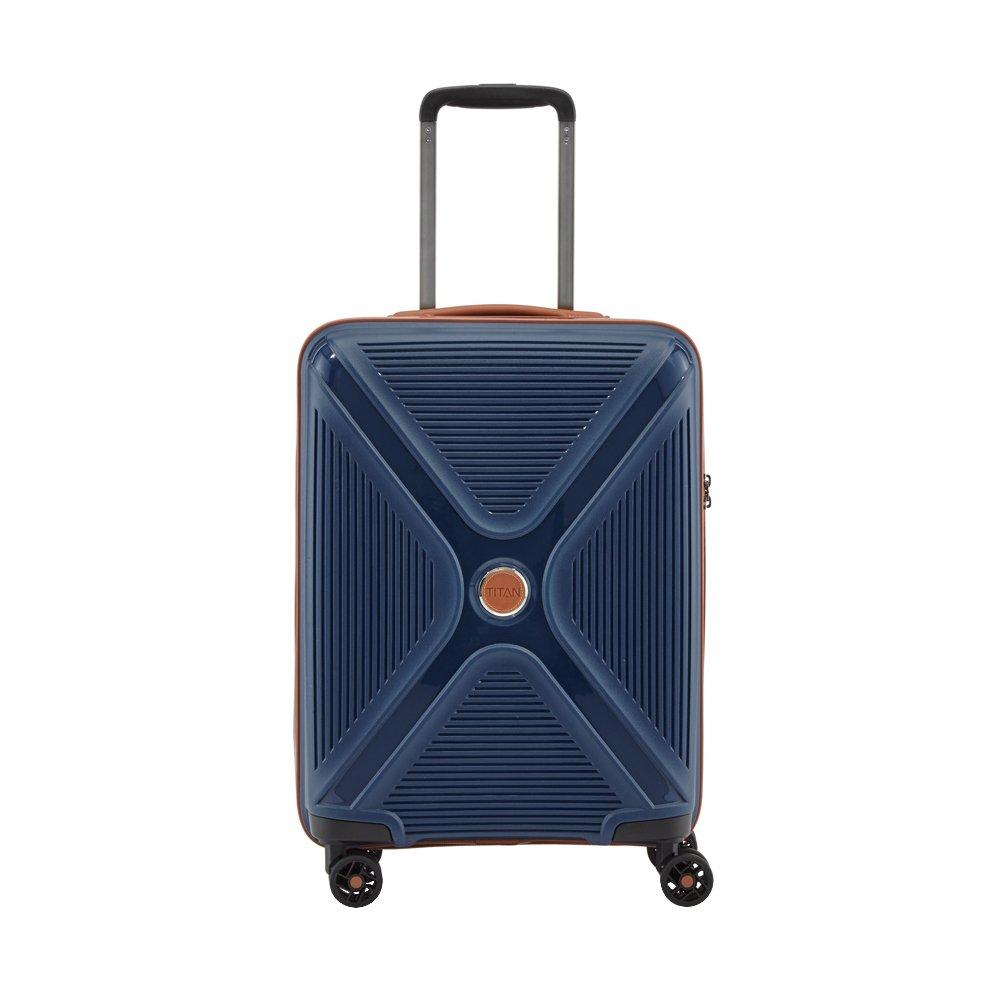 titan handgep ck trolley mit 4 rollen ein hartschalenkoffer leicht. Black Bedroom Furniture Sets. Home Design Ideas