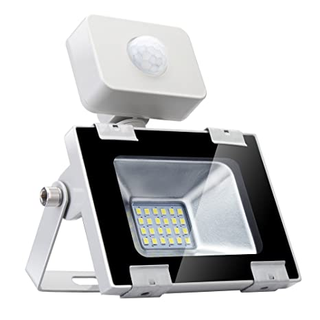 Sararoom 20W Foco LED Exterior,Con Sensor Movimiento Proyector LED ...