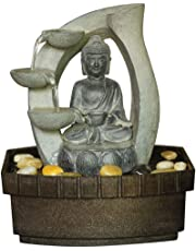 WATSONS Buddha Tabletop Indoor Fountain/Water Feature - 3 Tier Cascade with Pebbles