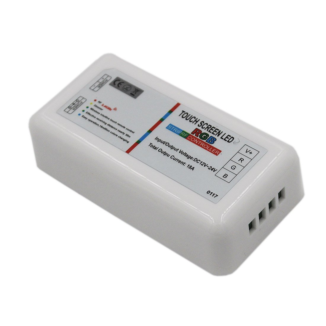 JOYLAND 2.4G RF Wireless 4 Channels Touch Screen Controller DC 12V//24V For Flexible RGBW LED Strip Light