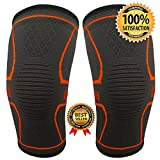 UltraComfy – A pair of Knee Compression Sleeves for Athletes Powerlifting Crossfit Running Knee...