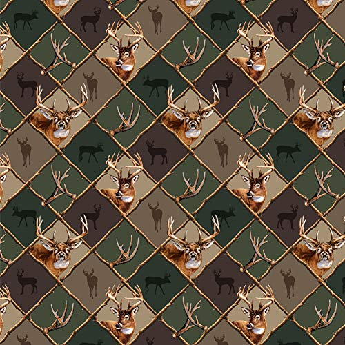 Graphics and More Deer Antler Hunting Hunter Camouflage Diamond Premium Roll Gift Wrap Wrapping Paper ()