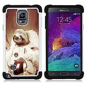 For Samsung Galaxy Note 4 SM-N910 N910 - Moon Space Travel Art Tree Sloth Animal Cosmos Dual Layer caso de Shell HUELGA Impacto pata de cabra con im????genes gr????ficas Steam - Funny Shop -