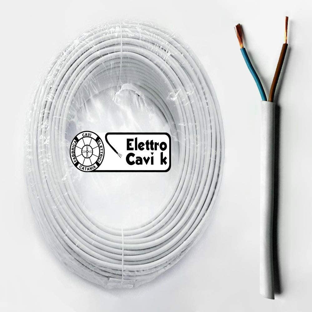 CAVO FILO ELETTRICO FROR 450-750V BIPOLARE SENZA NEUTRO 2X6 mm GRIGIO 2P ROTOLO DA 10 metri