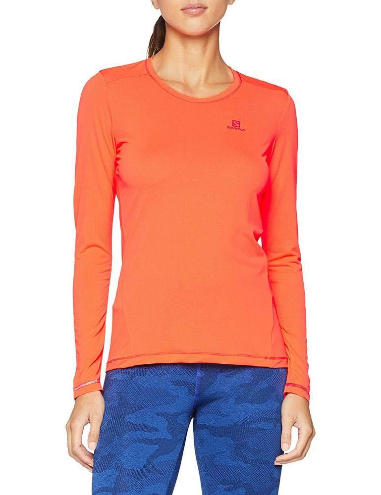 Salomon Damen Agile Shirt Ls Tee W Blue Curacao