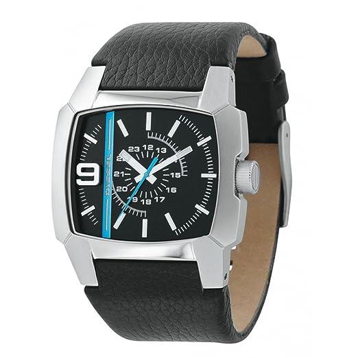 Diesel DZ1131 - Reloj analógico de cuarzo para hombre con correa de piel, color negro: Amazon.es: Relojes