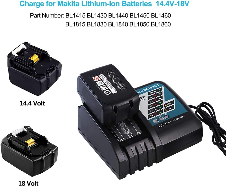 Cargador de batería rápida 18 voltios 4 BL1830 BL1850 BL1815 BL1840