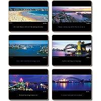 Cinnamon Ken Duncan Sydney Placemats 6-Pieces Set, 29 x 21.5 cm