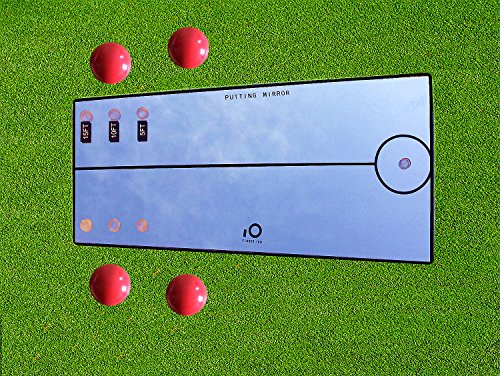 Golf Putting Mirror Alignment, Daily Practice Training Aid, Portable 12X6 Pack Set, By Finger Ten (12