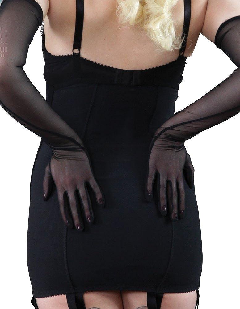 dfd76982cbdf What Katie Did Glamour Black Zip Up Underbust Girdle L3017 14: Amazon.co.uk:  Clothing