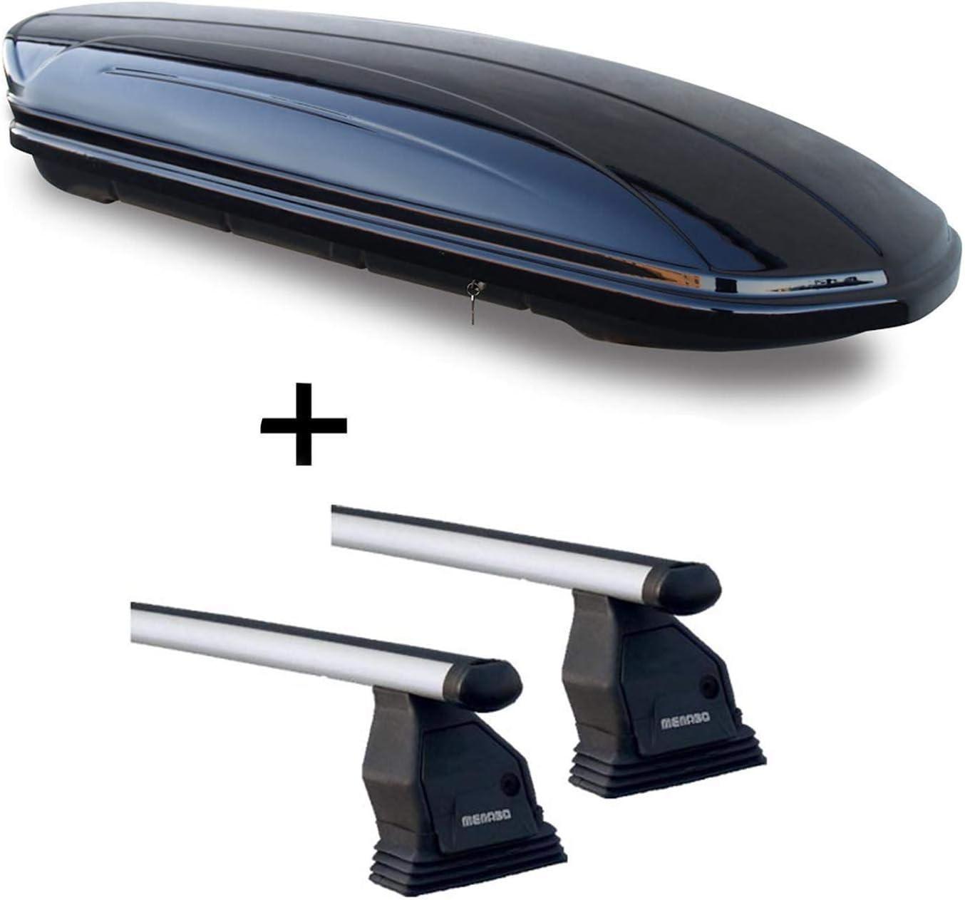 /à partir de 2014/TROIS-CORPS en aluminium barres de toit MENABO Tema pour Mercedes Classe C W205/ Coffre de toit vdpmaa320/verrouillable Noir 320/l 4/portes
