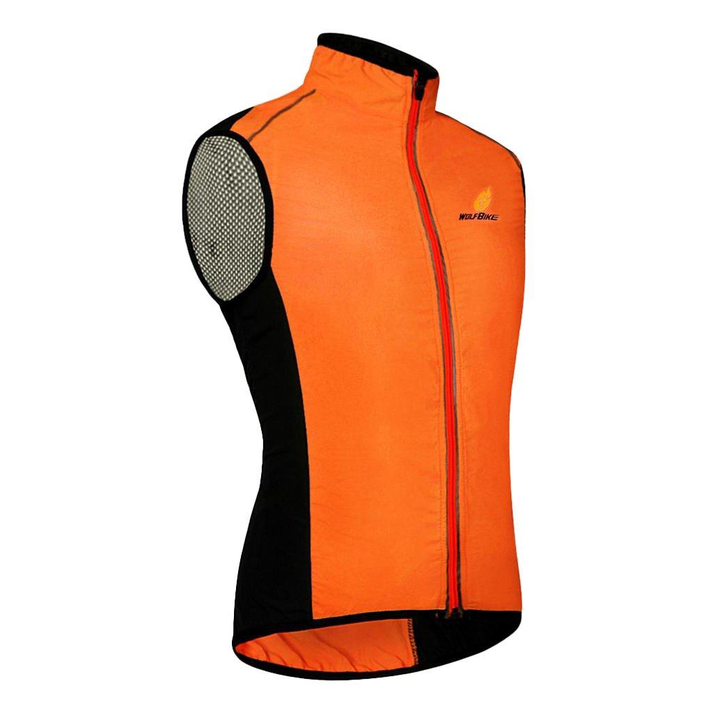 perfk Gilet Antivento Senza Maniche Sportivo Ciclismo Running Sport Confortevole Accessori