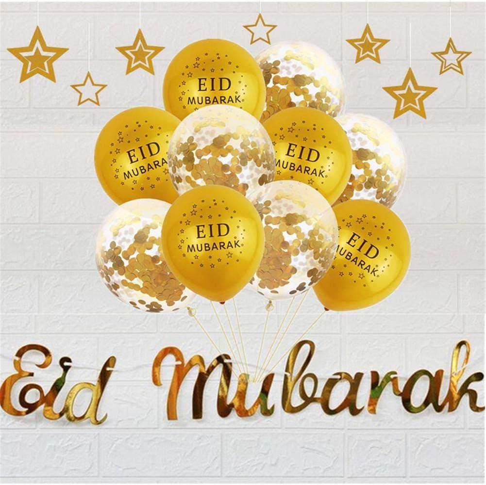 learnarmy Ramadan Decorazioni Eid Mubarak Paillettes Palloncini Set per Casa Partito Matrimonio Decorazioni e molto altro ancora.