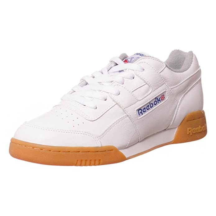 d4dbb10dffec Reebok Workout Plus R12 Trainers - White Royal Tin Grey  Amazon.co.uk   Shoes   Bags