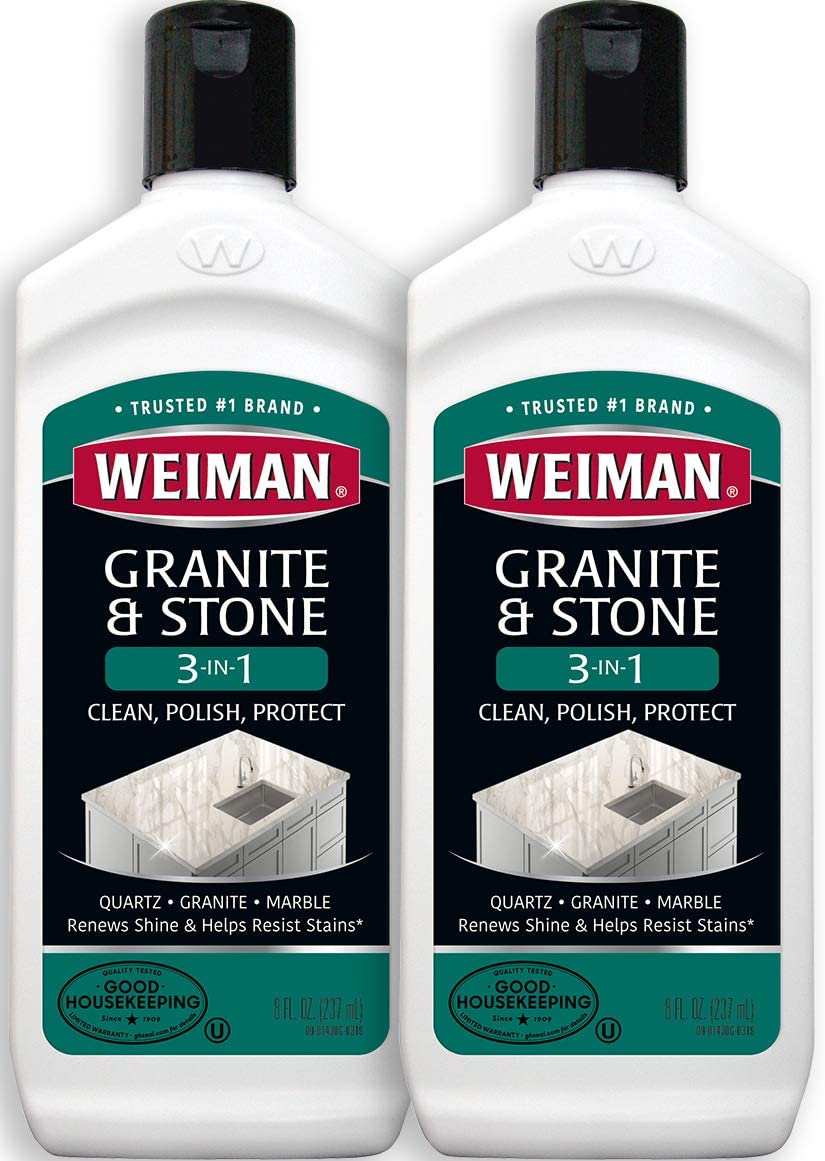 Weiman Granite Cleaner and Polish 8 Ounce 2 Pack
