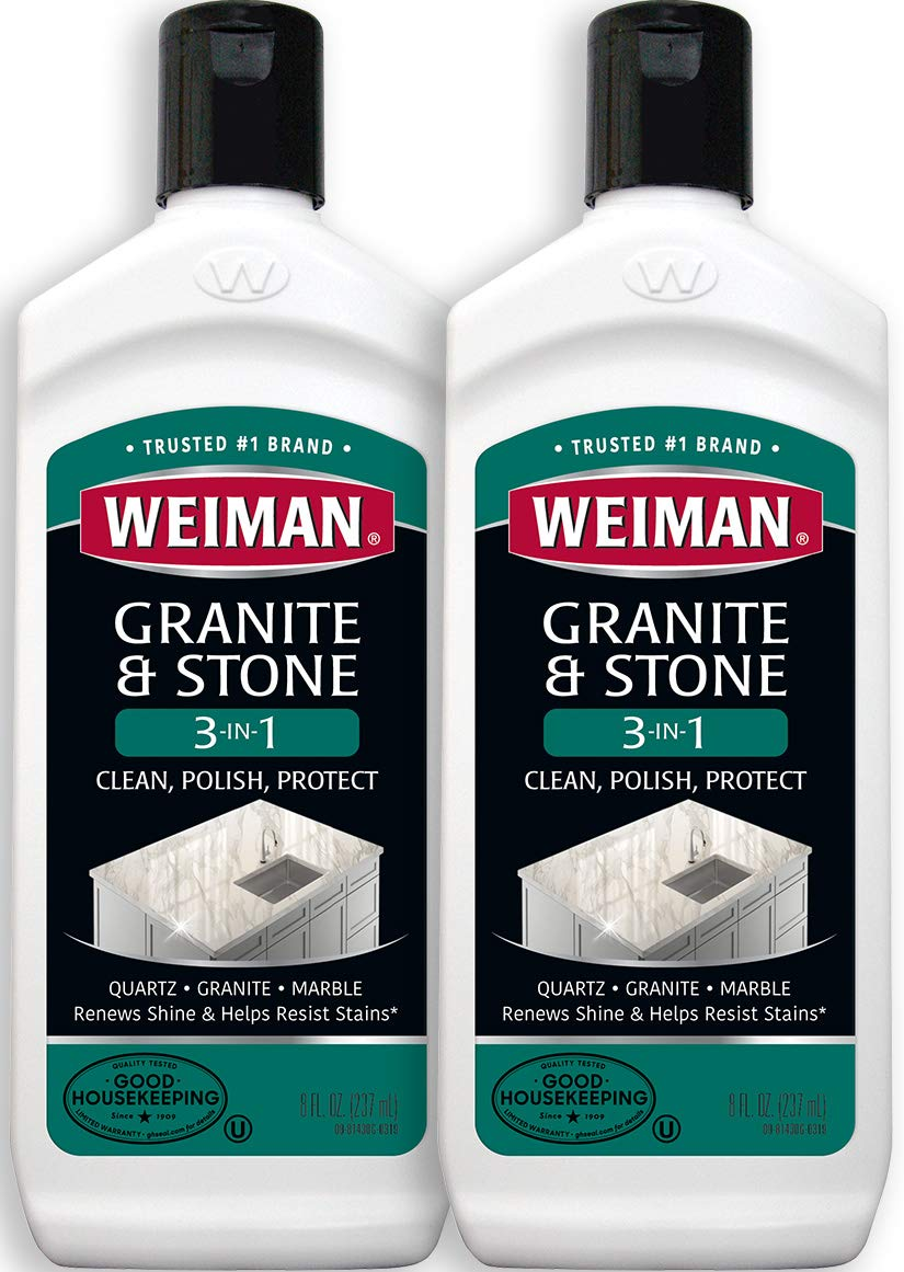 Weiman Granite Cleaner and Polish 8 Ounce 2 Pack by Weiman