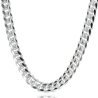 81346265783ff Sterling Silver 5mm Miami Cuban Curb Link Chain Necklace for Men Women