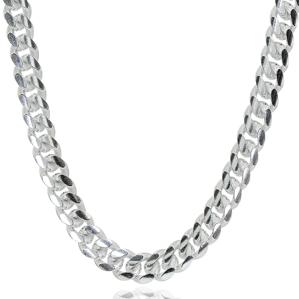 Sterling Silver 5mm Miami Cuban Curb Link Chain Necklace, 30 Inches
