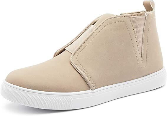 Sneakers PU Leather Ankle Booties