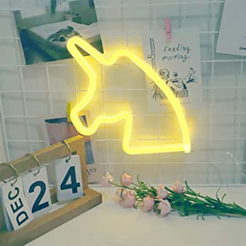 sala de juegos y oficina habitaci/ón de ni/ños azul Ne/ón decoraci/ón pared,para dormitorio como decoraci/ón de pared decoraci/ón de fiesta o regalo USB//Battery