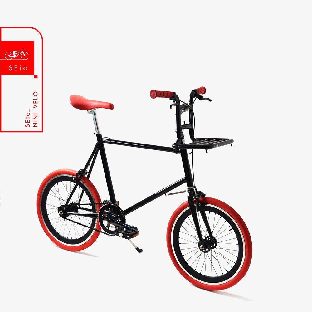 <<台湾SEic自転車工場直送>>超軽量スタイリッシュデザイン20インチSRAM AUTOMATIX 2段階自動変速_シティサイクルミニベロSEic Mini Velo Hashrag-#bk   B07DVTG11C