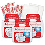 Johnson & Johnson First First Aid Kit Travel Size (Pack of 3 -- First Aid Kit for Car, Office, Purse)