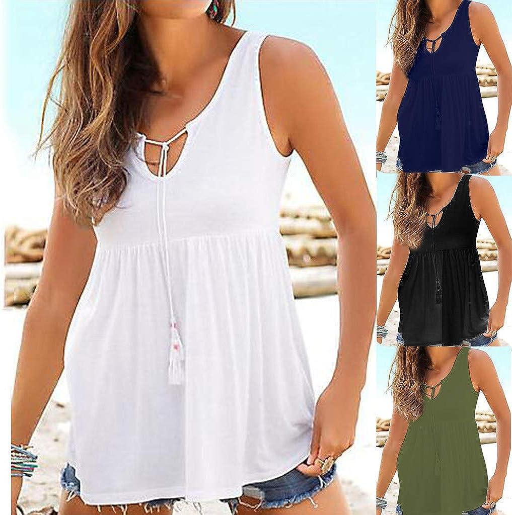 Vectry Camiseta De Tirantes Chalecos Interiores para Mujer Camiseta Mujer Blusas De Mujer Camiseta Deporte Mujer Blusa Blanca Mujer Elegante Camiseta: Amazon.es: Ropa y accesorios