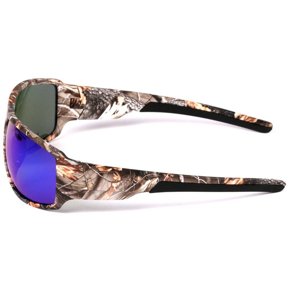 Zantec Sport Sonnenbrille im Freien mit Camouflage Frame Brille für die Fischerei der Männer der Navigation für Plaisance rot UhUBcX