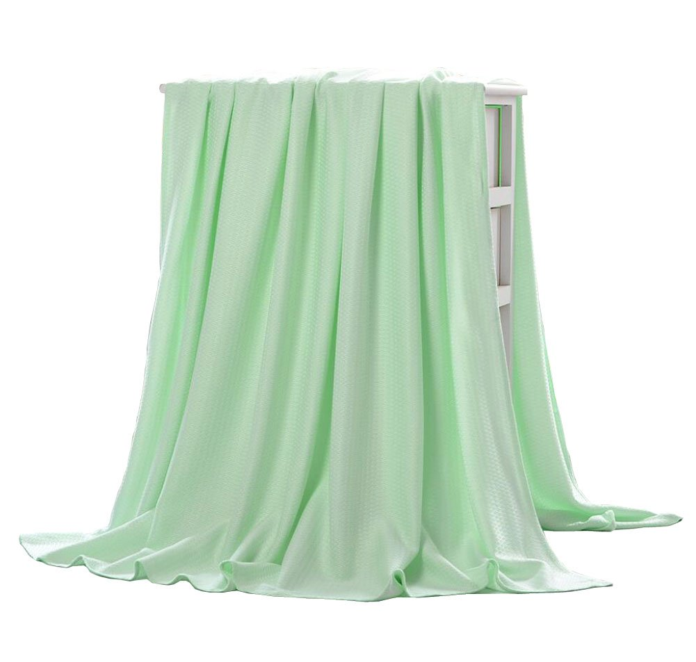 LAGHCAT Lightweight Bamboo Fiber Knitted Throws Solid Thin Blanket for Couch/Sofa/Bed,Sleeping Cover for Adults Chidren Kids (59''x79'', Green)