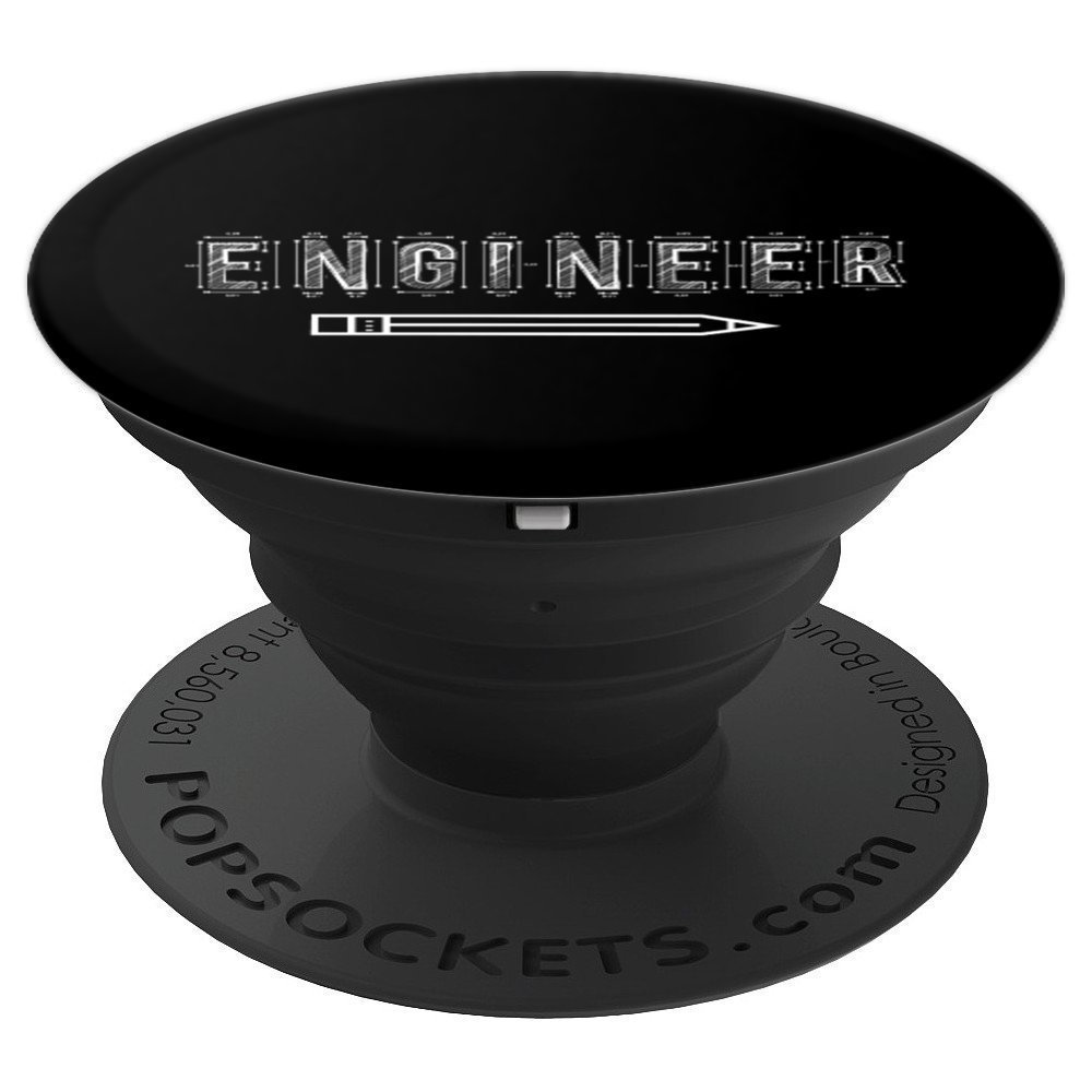 Narrow Lettering Engineer Engineering Gift - PopSockets Grip and Stand for Phones and Tablets by UAB KIDKIS