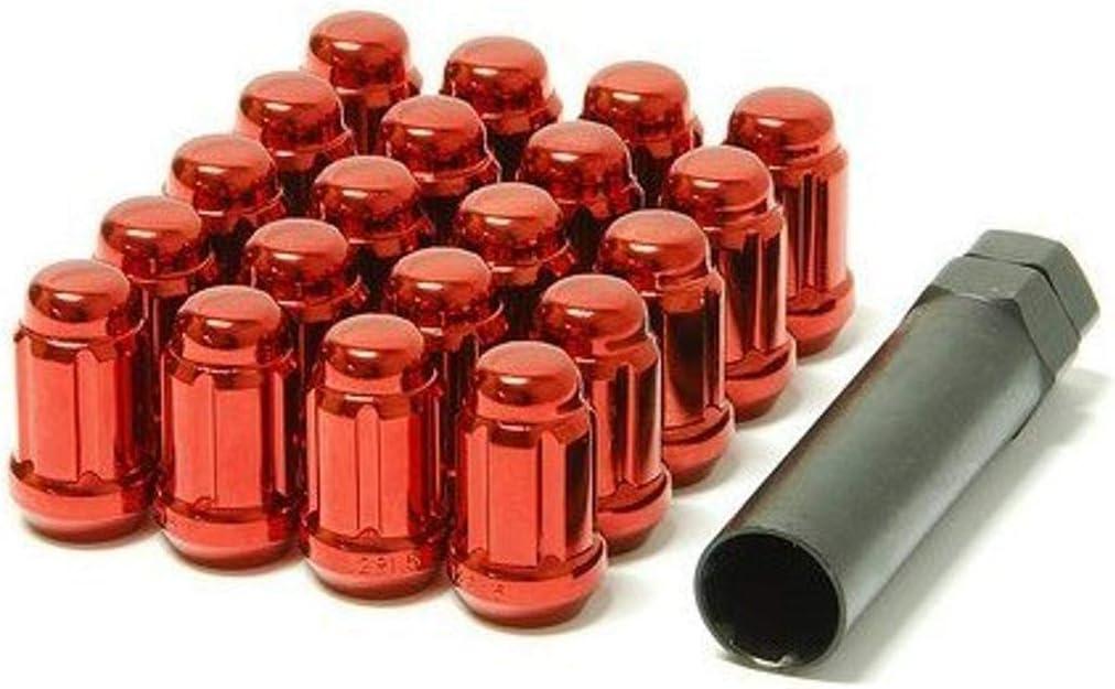 41886R Muteki Lug Nuts Chrome Red M12 X P1.50 Closed End
