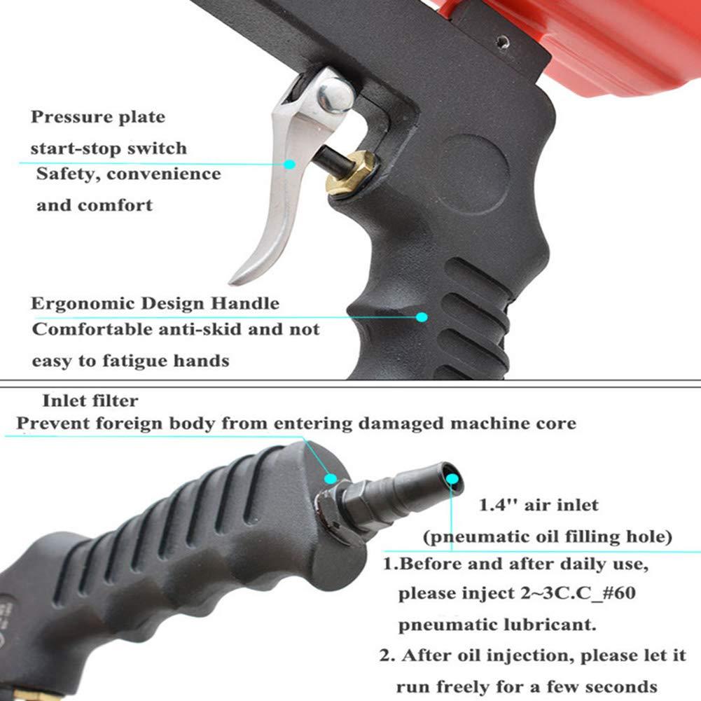 Enterrific Ergonomic Portable Gravity Sandblaster Sandblasting Machine Removing Spot Rust