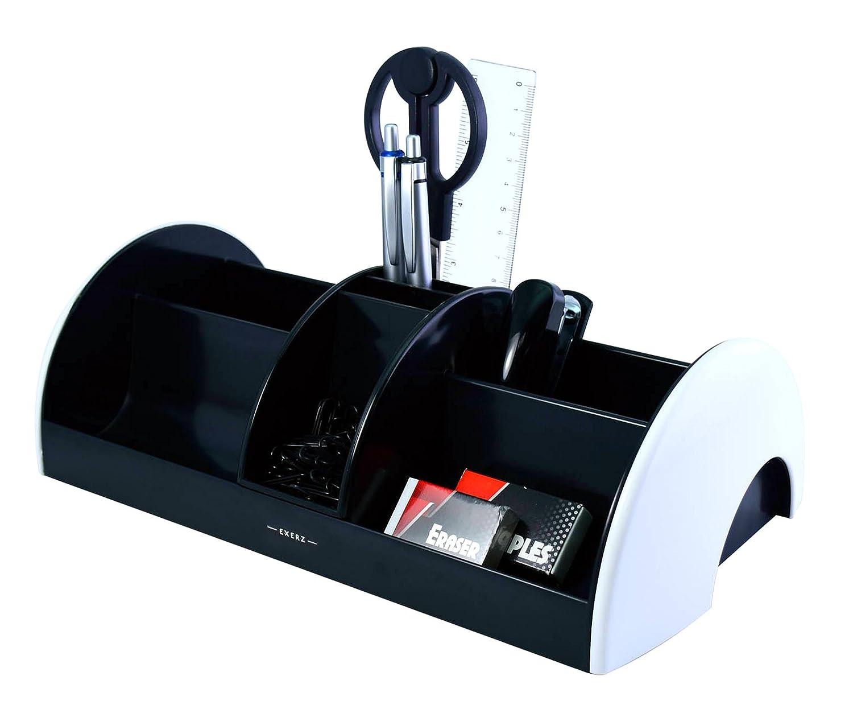 Heftklammern Hefter Ablagesystem//Stiftehalter Schere Lineal B/üroklammern INKLUSIVE Radiergummi Grau Exerz EX895A O-Life MEGA Tisch-Organizer//Ablagesystem mit B/ürobedarfset 30x16x9 cm