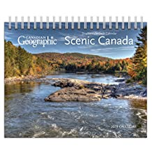 Canadian Geographic Scenic Canada 2018 Double-View Easel Desk Calendar