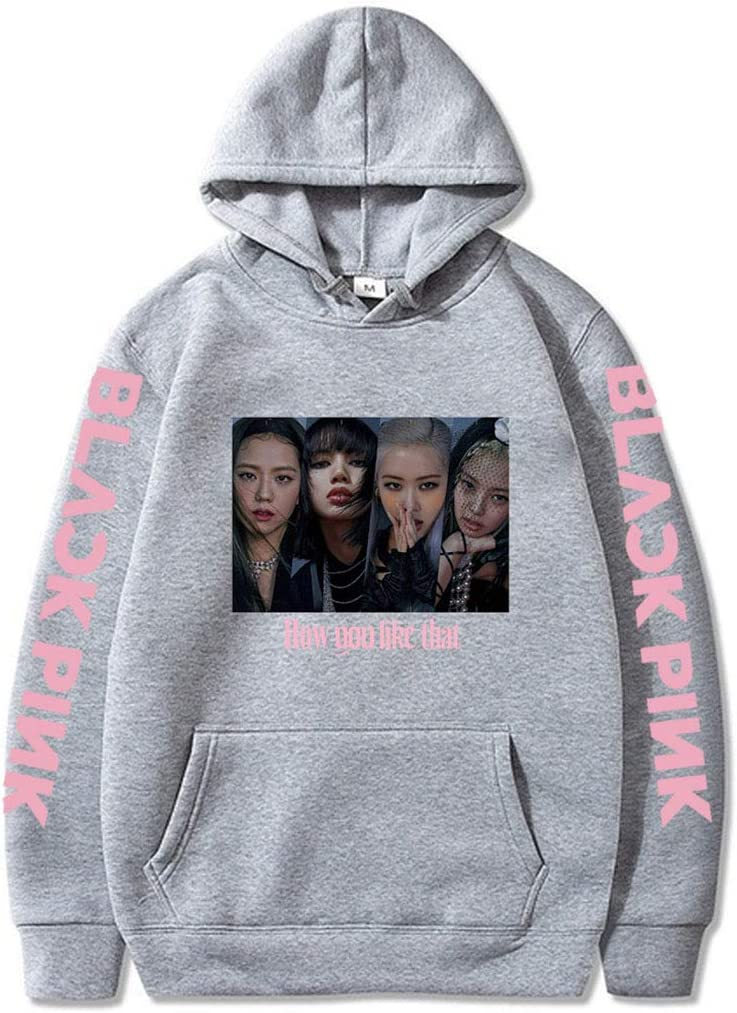KPOP Blackpink Hoodie New Album How You Like That Sweater Lisa Jennie Jisoo Rose Sweatshirt