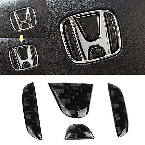 Real Carbon Fiber Steering Wheel Honda Logo Emblem Cover Decal Sticker for Honda Civic CRV 2016 and up