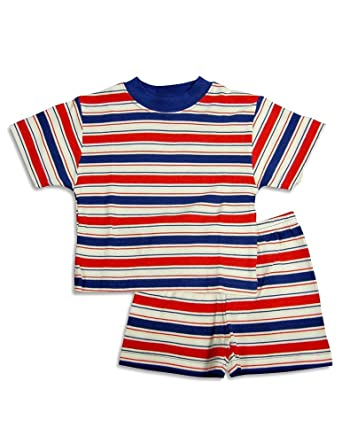 Amazon.com  Sara s Prints - Baby Boys Short Sleeve Striped Shortie ... 6ab7c933e