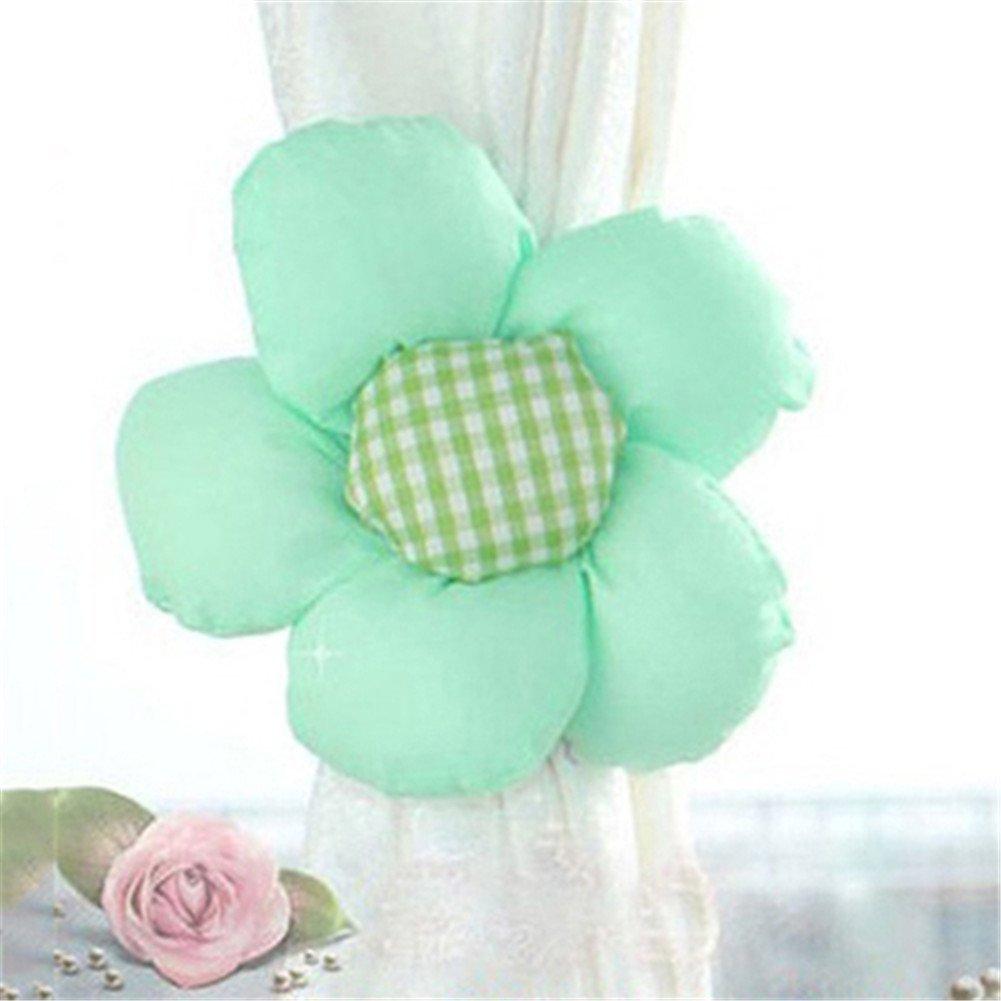 Bleu Ciel YOSEMITE 1/Paire Fleur fen/être Rideau Embrasses Support Fermeture Fille Chambre /à Coucher Home Decor Taille Unique