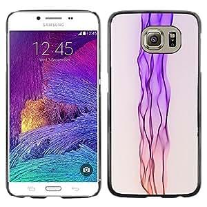 TopCaseStore / la caja del caucho duro de la cubierta de protección de la piel - Neon Pink Stream - Samsung Galaxy S6 SM-G920
