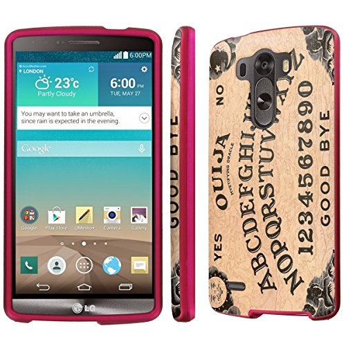 NakedShield LG G3 (Quija Board) Total Hard Armor LifeStyle Rose Pink Phone Case