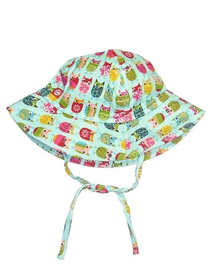 Amazon.com  Zutano Girls Owls Baby Sun Hat  Clothing 50e659bf0d8