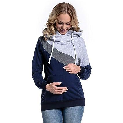 Ropa Premamá, ❤ Zolimx Mujeres Embarazadas Lactando Maternidad Junta con Capucha Tops Blusa Ropa