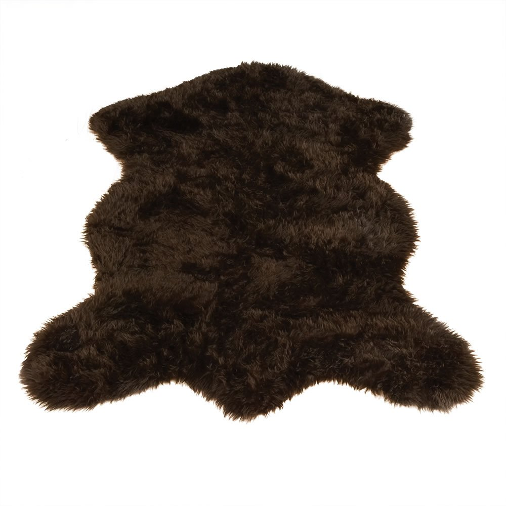 amazoncom brown bear pelt bear collection faux fur rug 2 foot x 4 foot faux brown bear rug patio lawn u0026 garden - Bear Rugs