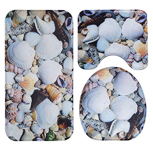 Wall of Dragon Non-Slip Bath Rug Bathroom Set Mats Beach Landscape Printing Pattern, Absorbent Non-slip Toilet Bathroom Rugs -