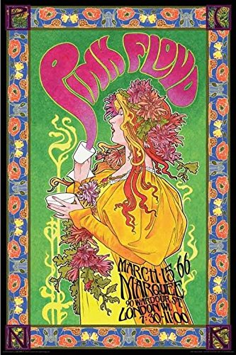 Pink Floyd London March 1966 Marquee Concert by Bob Masse 36x24 Music Art Print Poster