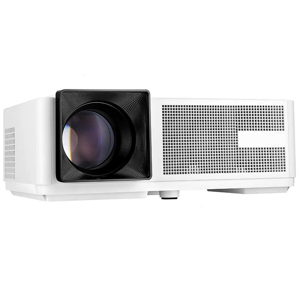 LiChenYao Projector Home HD 1080p Business Office Portable LED Projector 3000 Lumens (Color : White) by LiChenYao