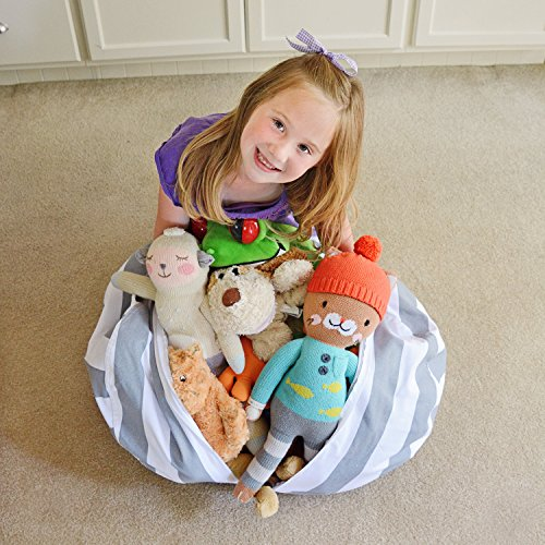 Creative Qt Stuff N Sit Stuffed Animal Storage Bean Bag