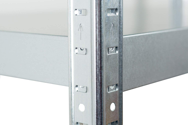 Estante de almacenamiento sin olor 90 kg por estante con 5 estantes Galvanizado 180 x 90 x 40 cm